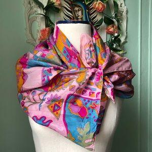 Handmade Vintage recycled silk scarf.